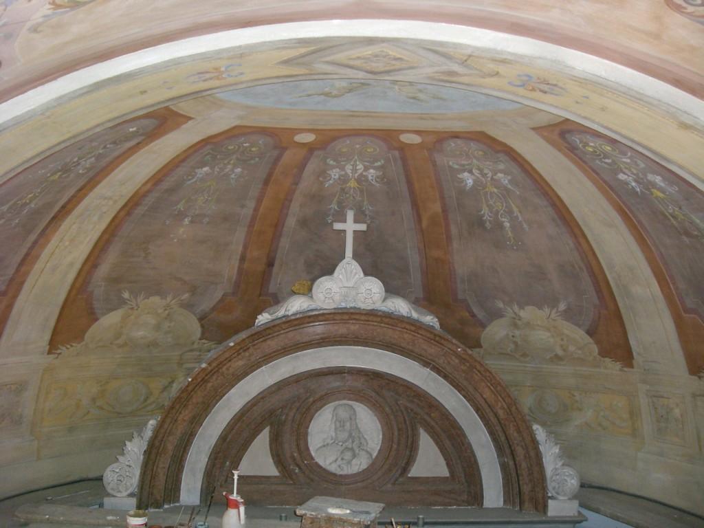 Particolare affresco Chiesa di Casso