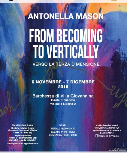 Antonella Mason From Becoming To Vertically - verso la terza dimensione